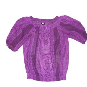 Mossimo Sheer Off Shoulder Blouse Sz S